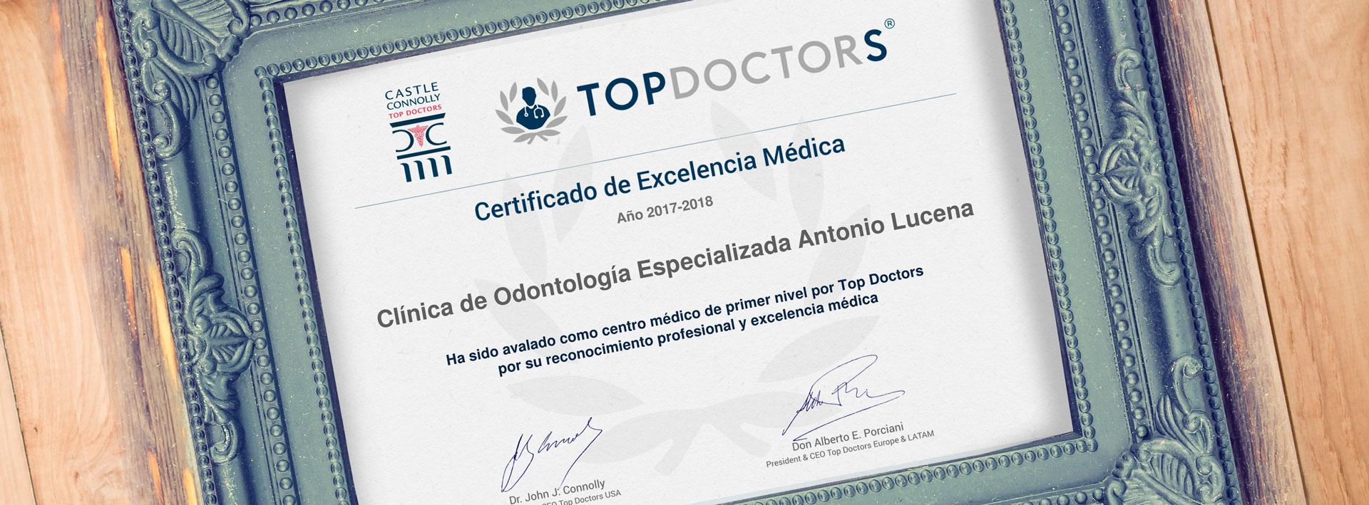 Certificado Topdoctors