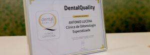Certificado Dental Quality Clínica de odontología Antonio Lucena