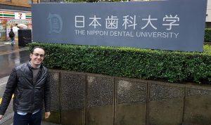 Antonio Lucena en formación en Tokio