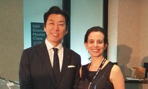 La Dra. Marta Morales y el Dr. Kenji Ojima